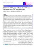 """Báo cáo y học: """"Inhibition of IFN-γ-dependent antiviral airway epithelial defense by cigarette smoke"""""""