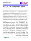 """Báo cáo y học: """"Resolution of cell-mediated airways diseases Carl G Persson*1 and Lena Uller2"""""""