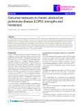 "Báo cáo y học: "" Outcome measures in chronic obstructive pulmonary disease (COPD): strengths and limitations"""