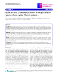 """Báo cáo y học: """"Isolation and characterization of microparticles in sputum from cystic fibrosis patients"""""""