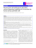 """Báo cáo y học: """"Pneumocystis cell wall β-glucan stimulates calcium-dependent signaling of IL-8 secretion by human airway epithelial cells"""""""