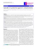"Báo cáo y học: "" Lipocalin 2 is protective against E. coli pneumonia"""