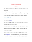 Khái quát về lịch sử tiếng Việt (phần 1)