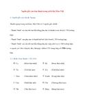 Nguồn gốc của tám thanh trong cách đọc Hán–Việt