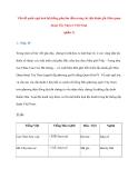 Vấn đề quốc ngữ hoá hệ thống phụ âm đầu trong các địa danh gốc Hán quan thoại Tây Nam ở Việt Nam (phần 1)