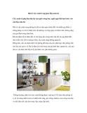 Bài trí cây xanh trong gian bếp mùa hè