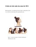 4 kiểu tóc búi xinh cho mùa hè 2011