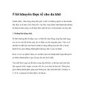 5 lời khuyên thực tế cho da khô