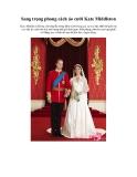 Sang trọng phong cách áo cưới Kate Middleton
