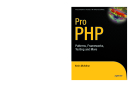 Pro  PHP Patterns, Frameworks, Testing and more phần 1