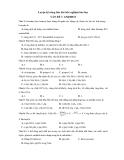 Luyện kỹ năng làm bài trắc nghiệm hóa học