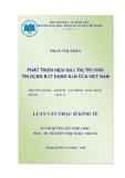 Đề tài: Phát triển hiệu quả thị trường tín dụng bất động sản của Việt Nam