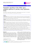"Báo cáo y học: "" Population specificity of the DNAI1 gene mutation spectrum in primary ciliary dyskinesia (PCD)"""