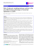"Báo cáo y học: ""Role of aberrant metalloproteinase activity in the pro-inflammatory phenotype of bronchial epithelium in COPD"""