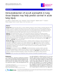 "Báo cáo y học: ""Immunodetection of occult eosinophils in lung tissue biopsies may help predict survival in acute lung injury"""