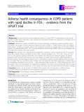 "Báo cáo y học: "" Adverse health consequences in COPD patients with rapid decline in FEV1 - evidence from the UPLIFT trial"""
