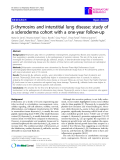 """Báo cáo y học: """"  b-thymosins and interstitial lung disease: study of a scleroderma cohort with a one-year follow-up"""""""