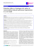 "Báo cáo y học: ""  Protective effects of hydrogen-rich saline on monocrotaline-induced pulmonary hypertension in a rat model"""