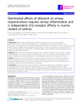 """Báo cáo y học: """" Detrimental effects of albuterol on airway responsiveness requires airway inflammation and is independent of b-receptor affinity in murine models of asthma"""""""