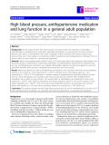 """Báo cáo y học: """" High blood pressure, antihypertensive medication and lung function in a general adult population"""""""