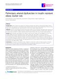 """Báo cáo y học: """"  Pulmonary arterial dysfunction in insulin resistant obese Zucker rats"""""""