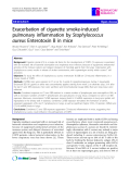 """Báo cáo y học: """" Exacerbation of cigarette smoke-induced pulmonary inflammation by Staphylococcus aureus Enterotoxin B in mice"""""""