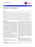 "Báo cáo y học: "" Claudins in lung diseases"""