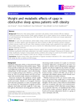 "Báo cáo y học: "" Weight and metabolic effects of cpap in obstructive sleep apnea patients with obesity"""