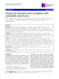 """Báo cáo y học: """" Increase of nitrosative stress in patients with eosinophilic pneumonia"""""""