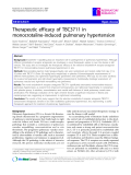 "Báo cáo y học: "" Therapeutic efficacy of TBC3711 in monocrotaline-induced pulmonary hypertension"""