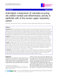 """Báo cáo y học: """" Antioxidant components of naturally-occurring oils exhibit marked anti-inflammatory activity in epithelial cells of the human upper respiratory system"""""""