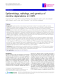 """Báo cáo y học: """" Epidemiology, radiology, and genetics of nicotine dependence in COPD"""""""