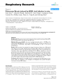 """Báo cáo y học: """"  Pulmonary fibrosis induced by H5N1 viral infection in mice"""""""