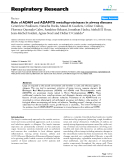 "Báo cáo y học: "" Role of ADAM and ADAMTS metalloproteinases in airway diseases"""
