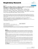"""Báo cáo y học: """" Efficacy and safety of 2-hour urokinase regime in acute pulmonary embolism: a randomized controlled trial"""""""