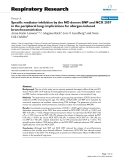 """Báo cáo y học: """" Specific mediator inhibition by the NO donors SNP and NCX 2057 in the peripheral lung: implications for allergen-induced bronchoconstriction"""""""