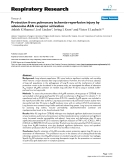 """Báo cáo y học: """" Protection from pulmonary ischemia-reperfusion injury by adenosine A2A receptor activation"""""""
