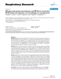 """Báo cáo y học: """"  Mitogen-activated protein kinases and NFκB are involved in SP-A-enhanced responses of macrophages to """""""
