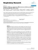"Báo cáo y học: "" Arginine deficiency augments inflammatory mediator production by airway epithelial cells in vitro"""