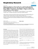 """Báo cáo y học: """" 'Diagnosing Asthma in General Practice with Portable Exhaled Nitric Oxide Measurement – Results of a """""""