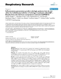"""Báo cáo y học: """"  Inflammatory parameters predict etiologic patterns but do not allow for individual prediction of etiology in patients """""""