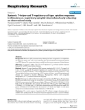 """Báo cáo y học: """" Systemic T-helper and T-regulatory cell type cytokine responses in rhinovirus vs. respiratory syncytial virus induced early wheezing: an observational study"""""""