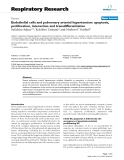 """Báo cáo y học: """"  Endothelial cells and pulmonary arterial hypertension: apoptosis, proliferation, interaction and transdifferentiation"""""""