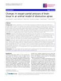 "Báo cáo y học: ""Changes in oxygen partial pressure of brain tissue in an animal model of obstructive apnea"""