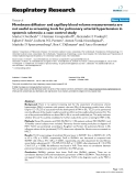 """Báo cáo y học: """" Membrane diffusion- and capillary blood volume measurements are not useful as screening tools for pulmonary arterial hypertension in systemic sclerosis: a case control study"""""""