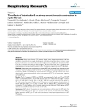 """Báo cáo y học: The effects of interleukin-8 on airway smooth muscle contraction in cystic fibrosis"""""""