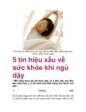 5 tín hiệu xấu về sức khỏe khi ngủ dậy