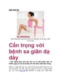 Cẩn trọng với bệnh sa giãn dạ dày
