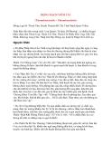 Bệnh Học Thực Hành: ĐỘNG MẠCH VIÊM TẮC (Thromboarteritis – Thromboartérite)