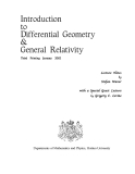 Intro to Differential Geometry and General Relativity - S. Warner Episode 1
